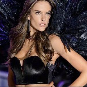 Victoria Secret Black Velvet Corset Bra